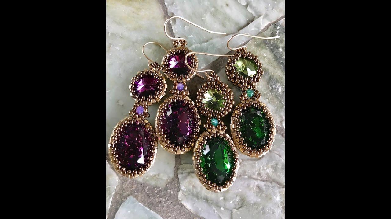 Interlace Earrings - A Bronzepony Beaded Jewelery Design - YouTube