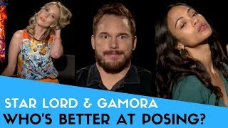 Poses & Compliments with Chris Pratt & Zoe Saldana