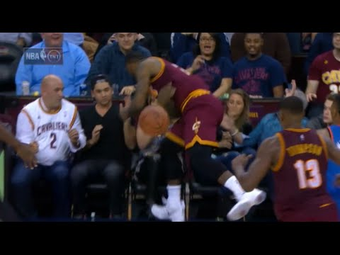 LeBron James seriously injures woman in first row! (unconscious)