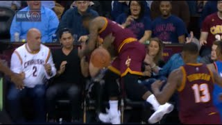 LeBron James seriously injures woman in first row! (unconscious) thumbnail