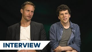 Alexander Skarsgård & Jesse Eisenberg's Biggest Challenges In The Hummingbird Project | TIFF 2018