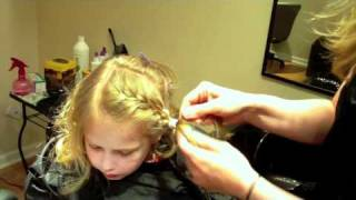 How to do a Flower Girl Bridal Hairstyle: Braided with Flowers and Spiral Curls