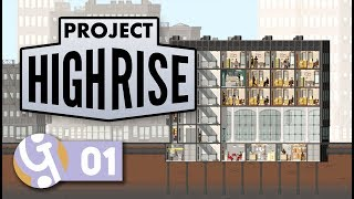 Flying Construction Workers | Let's Play Project Highrise #01