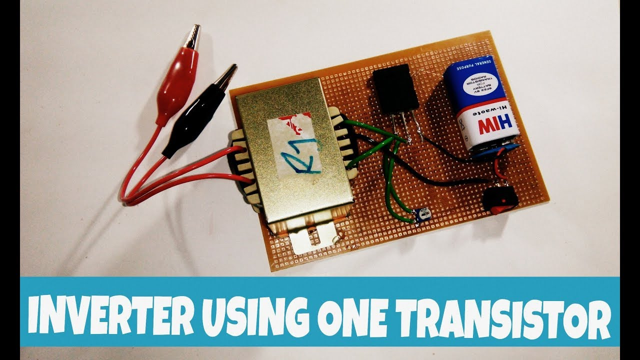 12v To 220v Inverter Using Only One Transistors Ttc5200 Transistor Motor Dc Ac Circuit 12vdc 120vac Like Subscribe If