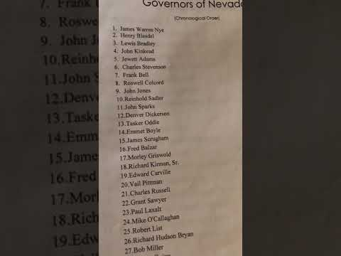 Nevada Governors Song