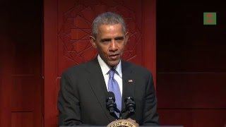 The President obama's visit to Baltimore Mosque  islamic centre -Muslim Mosque