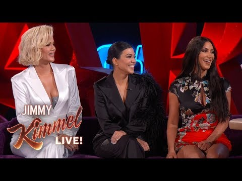 Jimmy Kimmel Interviews Kim, Kourtney & Khlo Kardashian in Las Vegas