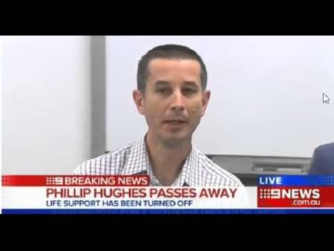 Doctors explain what happened to Phillip Hughes after being hit