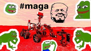 NASA lands Mars probe only to discover Trump & Pepe already there! MAGAMAGA