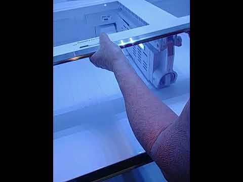 Samsung French door 4 door bottom glass removal cleaning and reinstallation