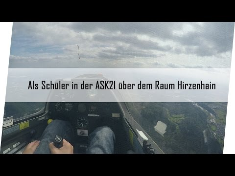 Als Schüler in der ASK21   As flight trainee in a ASK21 glider [1080p] [GER]