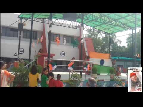 71 Independence day celebration in Kendriya Vidyalaya  ,students danced  (slum dog millionaire song)