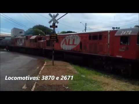GE U20C 3870 e U20C-1 2671 saindo de Cornélio Procópio/PR sentido à Ourinhos/SP. 12/01/20.