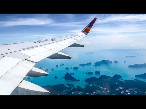 Thai Smile Airways Airbus A320 SUPER SCENIC TAKEOFF from Phuket Airport (HKT)