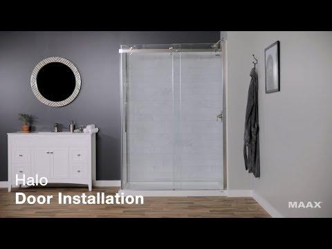 MAAX Halo Shower Door Installation