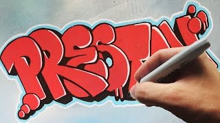 Graffiti Throwie Canvas Speed Art - Preston -