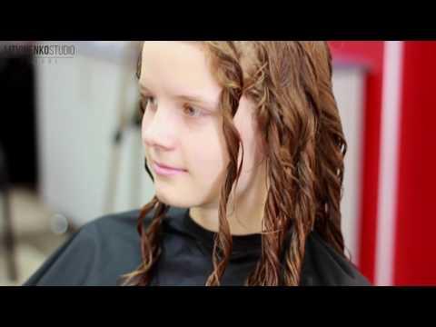 Укладка кудрявых волнистых волос