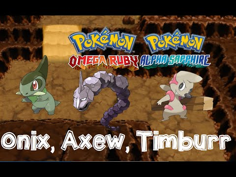 Pokemon Omega Ruby and Alpha Sapphire HOW TO CATCH/FIND ONIX, AXEW, TIMBURR, ABRA with Dexnav!