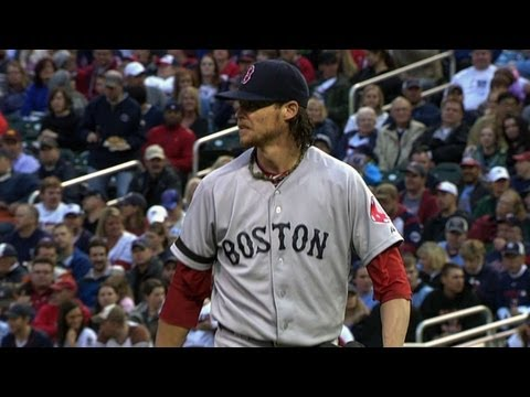 BOS@MIN: Buchholz strikes out nine over seven strong