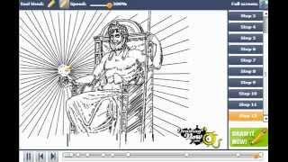 How to draw greek gods