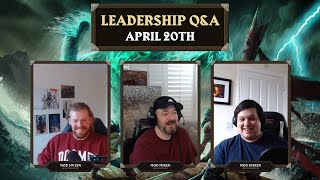 Leadership Stream! Mods Kieren, MikeD & Sween - OSRS Q&A April 20th