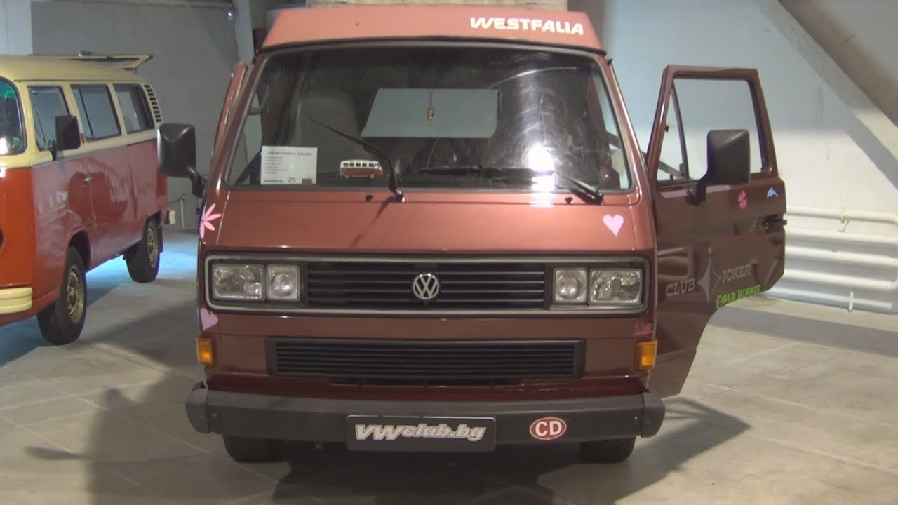 volkswagen transporter t3 westfalia 1987 exterior and interior youtube. Black Bedroom Furniture Sets. Home Design Ideas