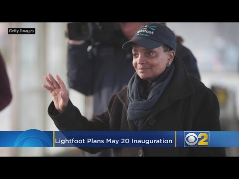 Chris Michaels - Lori Lightfoot will be sworn in at inauguration May 20th Wintrust Arena.