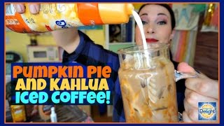 PUMPKIN PIE AND KAHLUA ICED COFFEE | Pinterest Drink #117