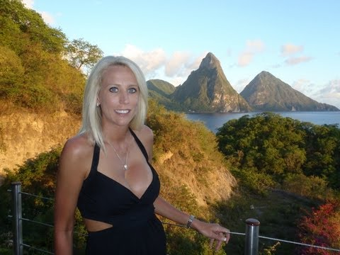 Images of Saint Lucia Island (The Lesser Antilles )