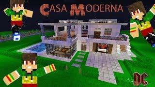 Tutorial de como hacer una casa moderna minespazio server