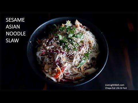 ASIAN Rice Noodle Slaw
