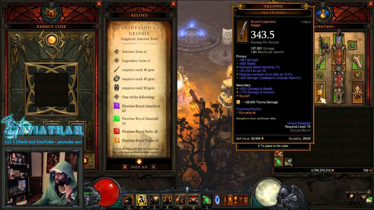 Diablo 3 How To Augment Your Gear With Caldesann S Despair Youtube