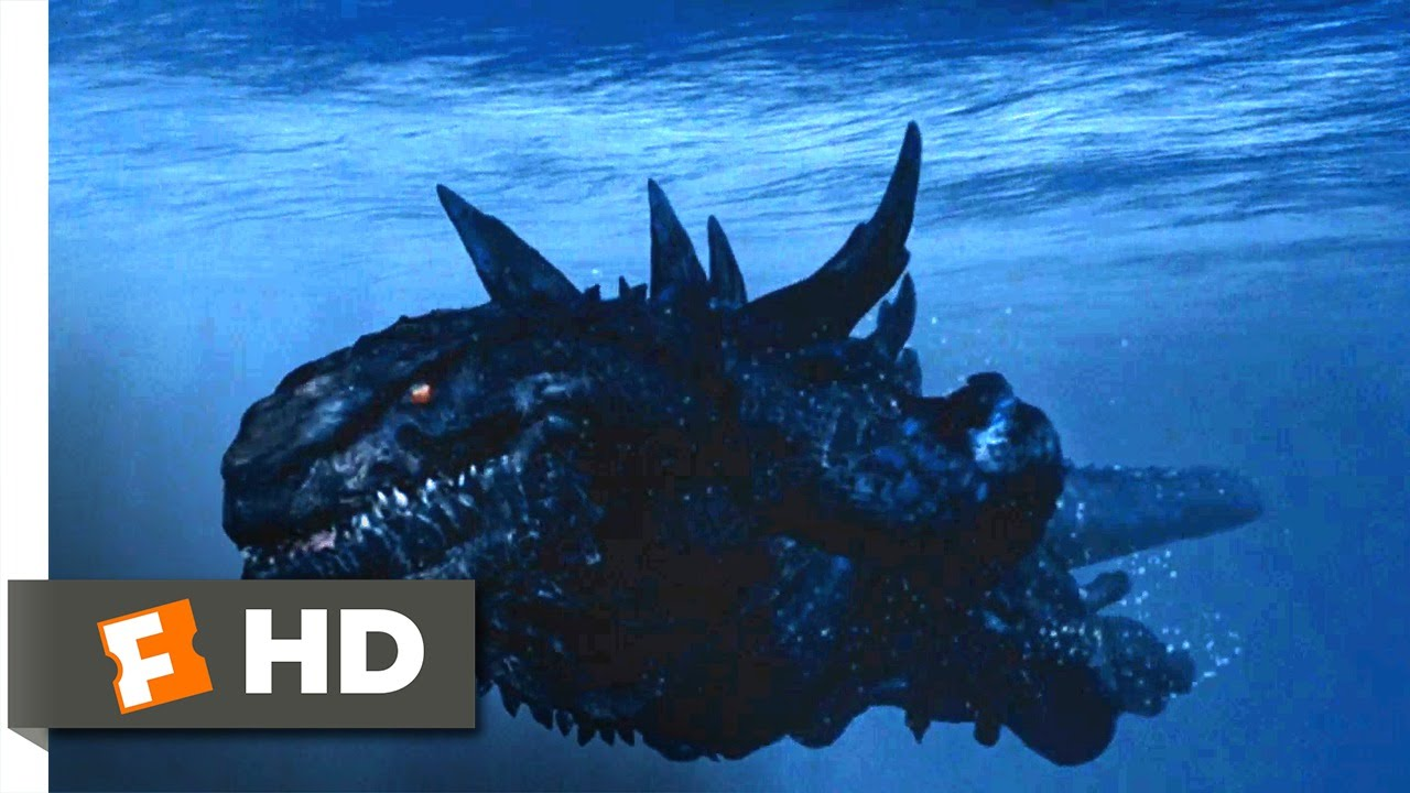 Godzilla (1998) - Godzilla vs. Submarines Scene (6/10 ...