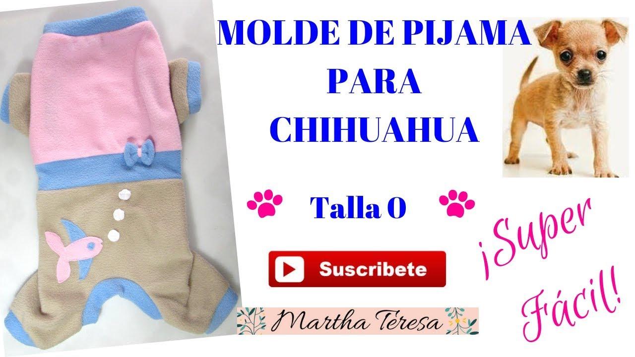 Calidad superior ventas especiales varios estilos MOLDE DE PIJAMA PARA CHIHUAHUA TALLA 0 -DIY.