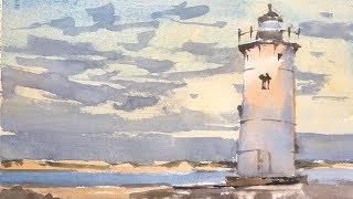 """Advancing with Watercolor: Graded Washes """"Edgartown Light"""""""