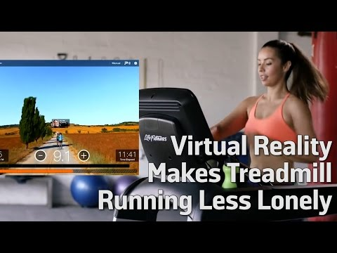 Virtual Reality Makes Treadmill Running Less Lonely