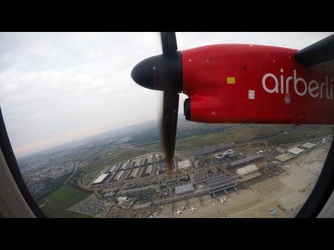 ✈ airberlin Bombardier Dash 8-Q400 Powerful Takeoff From Stuttgart Airport (STR) [4K] ✈