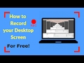 How to record your computer screen for FREE  2017