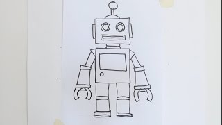How to draw cartoon robot