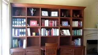 Cherry Bookcases With Desk