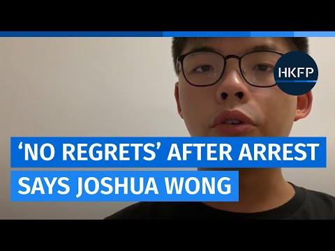 "Hong Kong's Joshua Wong says he has ""no regrets"" following his arrest over a 2019 demo"