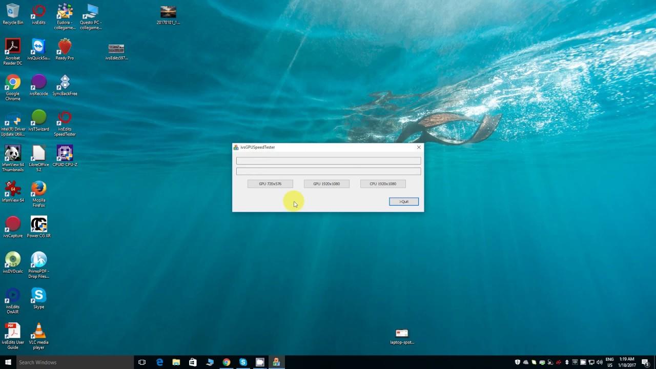ivsEdits GPU Speed Tester Tutorial