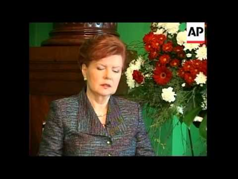 Interview with Latvian president ahead ahead of Bush visit