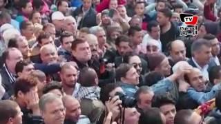 تشييع جثمان كريمة مختار من مسجد عمرو بن العاص