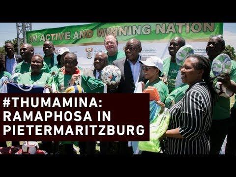 Ramaphosa concludes #ThumaMina activities in Pietermaritzburg