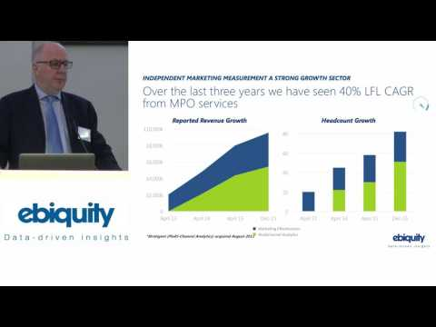 Ebiquity's Nick Manning presents to investors at the Capital Conference
