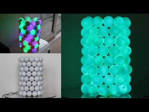 How To Make An Illuminated Ping Pong Ball Lamp!