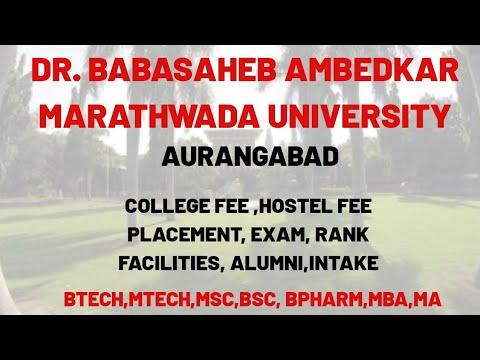 DR BABASAHEB AMBEDKAR MARATHWADA UNIVERSITY AURANGABAD TOTAL INFORMATION