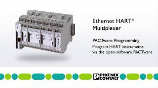 PACTware programming for the Ethernet HART Multiplexer