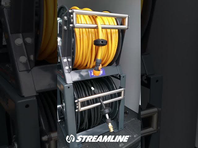 Take a look at the double stacked hose reels #shorts